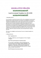 LOCAL GOVERNMENT TRANSITION ACT