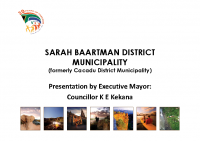 Presendial Local Government Summit Presentation – Sarah Baartman District Municipality
