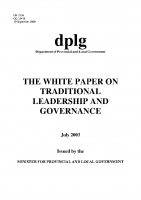 White Paper on Traditional Leadership and Governance