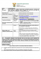 BID DOCUMENT FOR TENDER NUMBER CoGTA (T) 06 OF 2017 (CLEANING SERVICE)